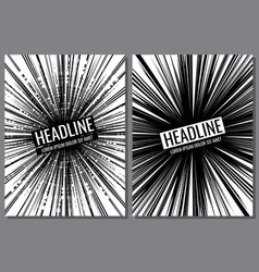brochure templates with comic speed line vector image