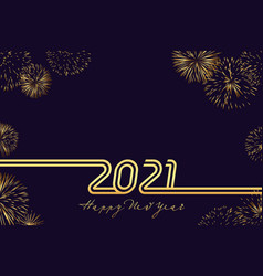 2021 golden typography card vector image