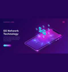 5g network technology isometric concept vector