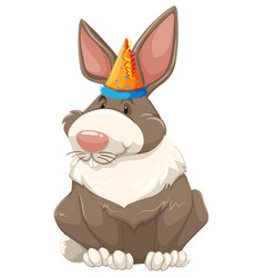 a cute party bunny vector image