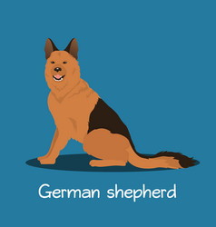 An depicting german shepherd dog cartoon vector