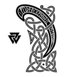 ancient decorative dragon in celtic style vector image