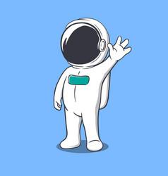 Astronaut welcomes us vector