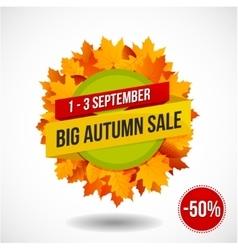 Autumn Sale Discount Logo or Emblem vector