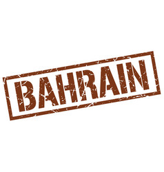 Bahrain brown square stamp vector