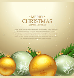 beautiful christmas festival greeting card design vector image