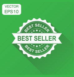 Best seller rubber stamp icon business concept vector
