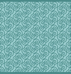 Blue pattern with linear swirls vector