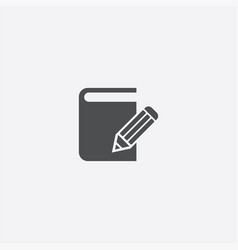 book write icon vector image