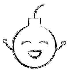 boom explosive comic character vector image