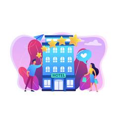 boutique hotel concept vector image