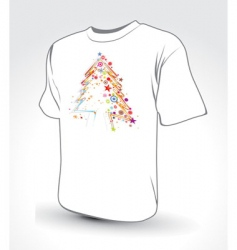 Christmas tree t-shirt vector