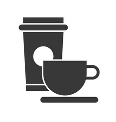 coffee cup food and beverage set glyph design icon vector image