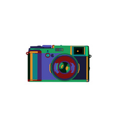 Colorful camera vector
