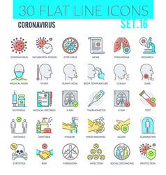 coronavirus icons vector image