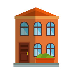 cute building exterior icon vector image
