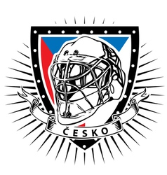 Czech republic ice hockey helmet shield vector