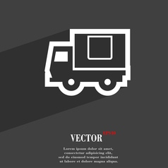 Delivery truck icon symbol flat modern web design vector