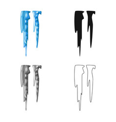 Design icicle and ice logo set of vector