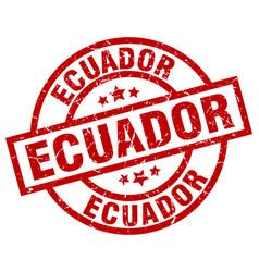 Ecuador red round grunge stamp vector