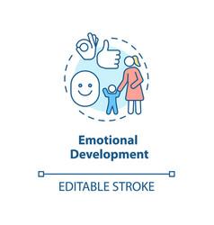 Emotional development concept icon vector
