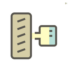 Ev car motor and wheel icon design 48x48 pixel vector