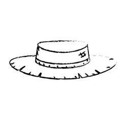 Figure cute pesant hat to use in the farm work vector