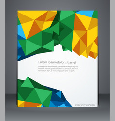 Geometric design brochures magazine cover vector