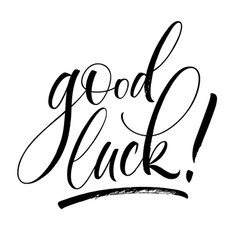 good luck lettering vector image