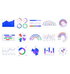 Graph charts colorful diagrams statistics vector