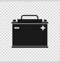 Grey car battery icon isolated on transparent vector