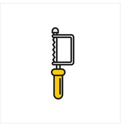 Hacksaw icon on white background vector