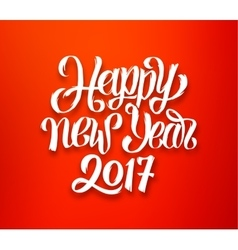 Happy New Year 2017 red-white greeting card vector