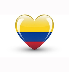 Heart-shaped icon with national flag colombia vector