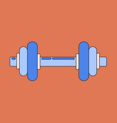 Icon in flat design dumbbell vector
