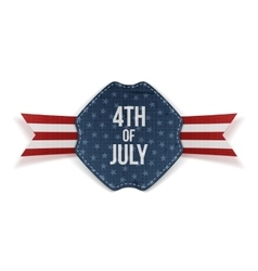 Independence Day 4th of July greeting Banner vector image