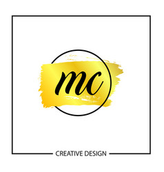 Initial mc letter logo template design vector