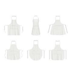 Kitchen apron black and white fabric clothes vector