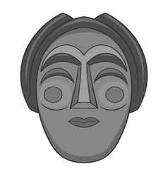 Korean mask icon gray monochrome style vector