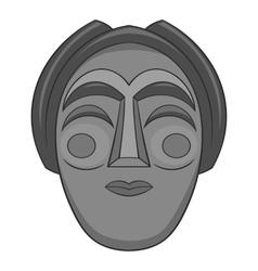 Korean mask icon gray monochrome style vector image