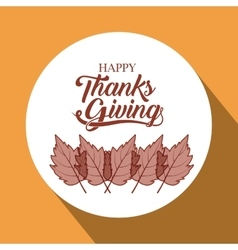 leaves thanks given design vector image