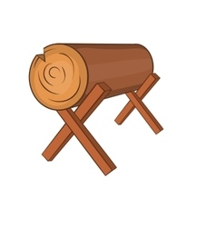 Log stand icon cartoon style vector image vector image