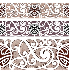Maori styled seamless pattern vector