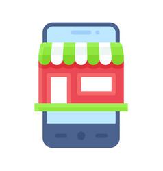 Mobile shopping app icon application vector
