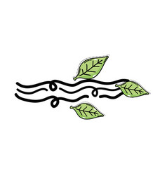 Natural wind weather with leaves element vector