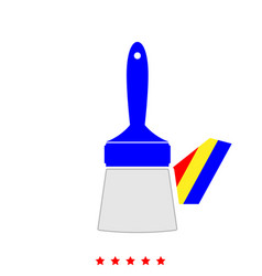 paint brush it is icon vector image
