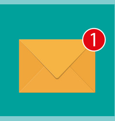 paper envelope letter with counter notification vector image