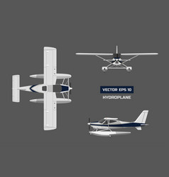 Plane in a flat style on a gray background vector