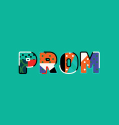 prom concept word art vector image