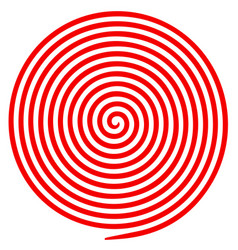 red and white round abstract vortex hypnotic vector image